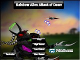 Rainbow Alien Attack of Doom A Free Online Game